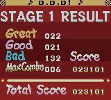 pop'n music GB: Disney Tunes Game Boy Color Stage 1 Result.