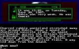 Mindfighter Atari ST Introspection of the character in a huge text box