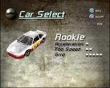 Destruction Derby 2 PlayStation The car selection screen. Only the rookie car is available at the start