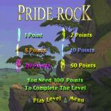 Disney's the Lion King: Simba's Mighty Adventure PlayStation Level One: Pride Rock begins.