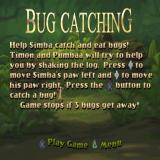 Disney's the Lion King: Simba's Mighty Adventure PlayStation The rules for the Bug Catching mini-game