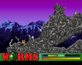 Worms PlayStation A cluster bomb has just done some damage
