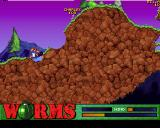 Worms PlayStation This shows a different landscape