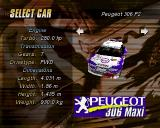 Michelin Rally Masters: Race of Champions PlayStation The car selection screen for a single race