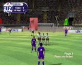 FIFA 2001 PlayStation 2 A free kick. I swear it was a genuine tackle 