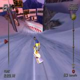 SSX PlayStation 2 The course is very steep and very fast