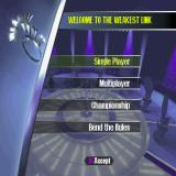Weakest Link PlayStation The game's main menu