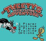 Tweety's High-Flying Adventure Game Boy Color Title Screen.