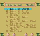 Tweety's High-Flying Adventure Game Boy Color Training Mode.
