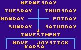T.G.I.F. Atari 8-bit Choosing the day of the week
