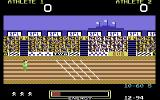 Hunchback at the Olympics Commodore 64 Approaching the finish line.