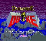 Dynamite Duke Arcade Title Screen.