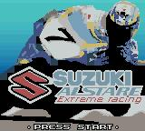 Suzuki Alstare Extreme Racing Game Boy Color Title Screen.