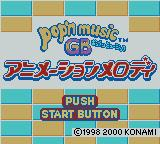pop'n music GB: Animation Melody Game Boy Color Title Screen.
