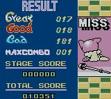 pop'n music GB: Animation Melody Game Boy Color Result.