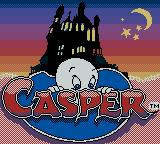 Casper Game Boy Color Title Screen.