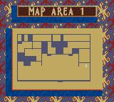 Casper Game Boy Color Map of the area.