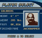WCW Mayhem Game Boy Color Player Select.