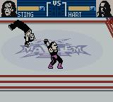 WCW Mayhem Game Boy Color Thrown across the ring.