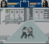 WCW Mayhem Game Boy Color Fighting in the locker room.