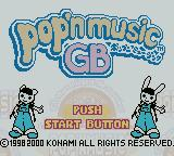 pop'n music GB Game Boy Color Title Screen.