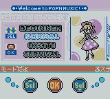 pop'n music GB Game Boy Color Game Mode Select.