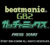 beatmania GB2: GatchaMix Game Boy Color Title Screen.