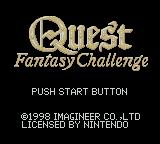 Quest: Fantasy Challenge Game Boy Color Title Screen.