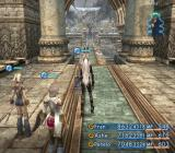 Final Fantasy XII PlayStation 2 A mysterious shrine with a partial view of the outside world. My all-girl party is well-prepared with beneficial status effects