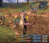 Final Fantasy XII PlayStation 2 Fighting mid-level regular enemies in the plains. Battles seem chaotic, but are actually more tactically deep than ever before in the series