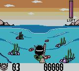 Hugo 2 Game Boy Color Swimming.