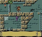 Montezuma's Return! Game Boy Color A door with a key elsewhere.