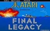 Final Legacy Atari ST Title picture and menu