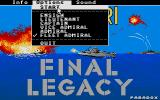 Final Legacy Atari ST Selecting difficulty and start game