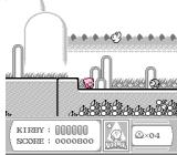 Kirby's Adventure NES Gameboy-inspired level (Kirby showing it's roots)