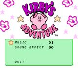 Kirby's Adventure NES Cute Kirby listens to music