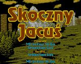 Skoczny Jacuś Amiga Title screen