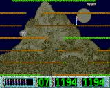 Skoczny Jacuś Amiga Level 7 - rocky mountain with cloud and rolling stone