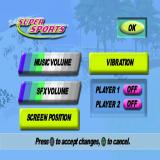 Barbie: Super Sports PlayStation The game's configuration options.