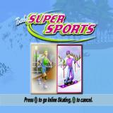 Barbie: Super Sports PlayStation Starting a new game. after selecting their character and then entering their name the player chooses a sport.