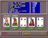 American Poker Amiga Selecting cards