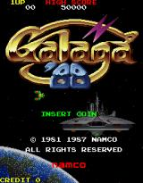 Galaga '88 Arcade Title Screen.