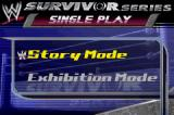 WWE Survivor Series Game Boy Advance Single Play options.
