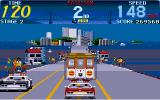 "Cisco Heat: All American Police Car Race Amiga ""Get out of the friggin' way, you bloody Sunday driver!"""