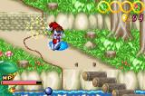 Kid Klown in Crazy Chase Game Boy Advance Got wet.