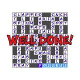 Puzzler 1000 Crosswords Windows When a game is completed there's a nice 'Well Done' message