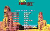Mighty Bombjack DOS High scores
