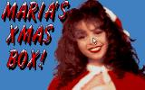 Maria's Xmas Box Atari ST Title picture with the mouse pointer on the nose :)
