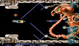 R-Type II Android Fighting the first level boss with the new laser weapon.