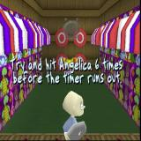 Rugrats: Search for Reptar PlayStation This is a mini game within the tutorial, throwing pies at Angelica